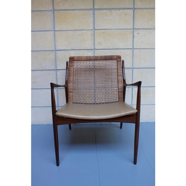 Mid-Century Modern Kofod Larsen Cane Back Lounge Chair For Sale - Image 3 of 11