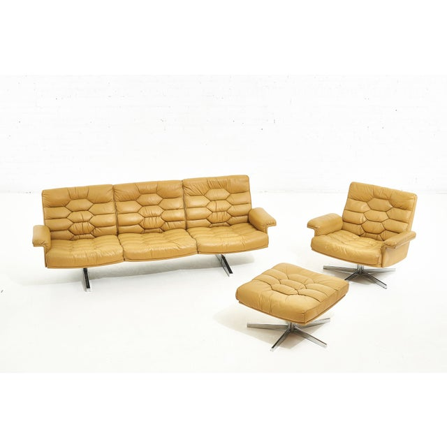Leather De Sede Leather Ds-P Sofa by Robert Haussmann, Switzerland, 1970 For Sale - Image 7 of 9