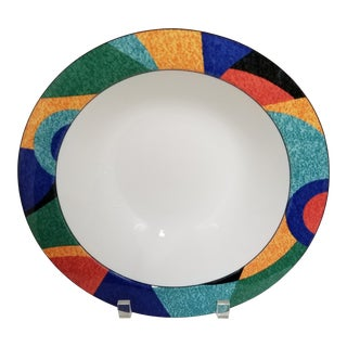 """1990's Postmodern Victoria & Beale Accent 10"""" Round Vegetable Serving Bowl For Sale"""