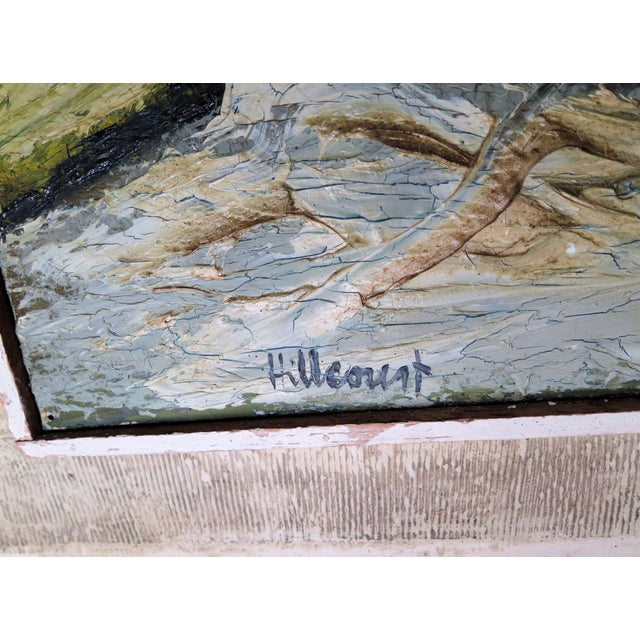 """Hillcourt"" is the way Jan Hillcourt signs the canvas one of the highly collected artist of the post WWII San Francisco..."