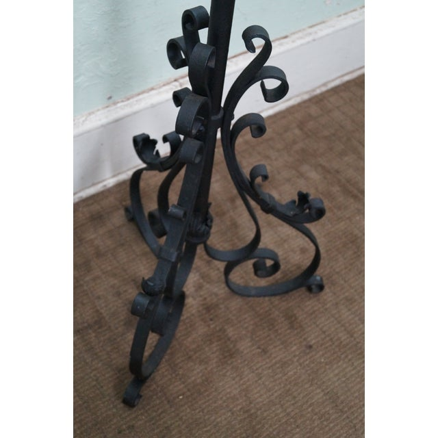 Quality Wrought Iron Torchieres Candle Holders - Image 7 of 10