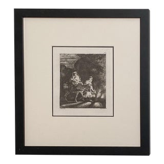 Late 18th Century Rembrandt Etching #14, by Francesco Novelli For Sale
