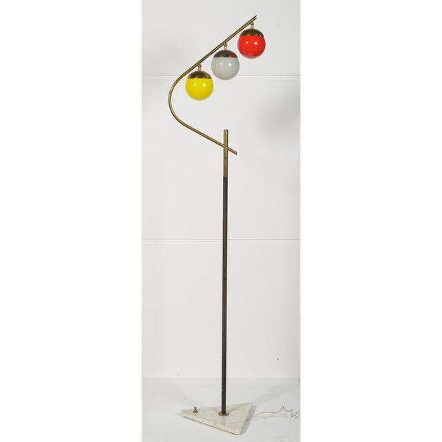 Brass 1960s Italian Floor Lamp For Sale - Image 7 of 8