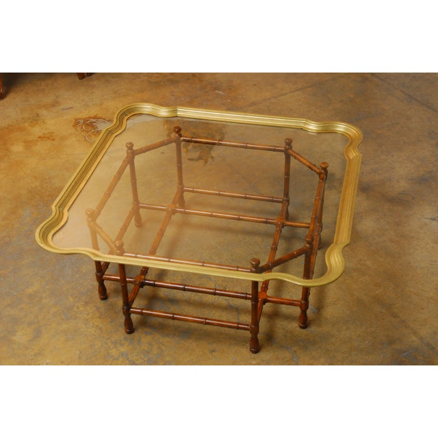 Baker Bamboo and Brass Tray Top Coffee Table - Image 6 of 10