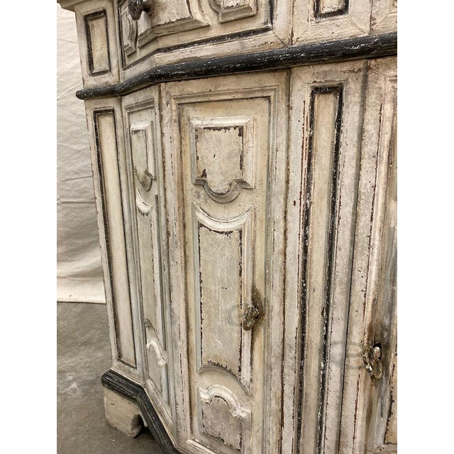 Wood Italian Painted Credenza Buffet - Early 20th C For Sale - Image 7 of 12
