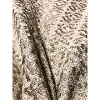 Kravet Ceylon Key Taupe Linen Drapery Fabric By: Barbara Barry 20 Yards For Sale