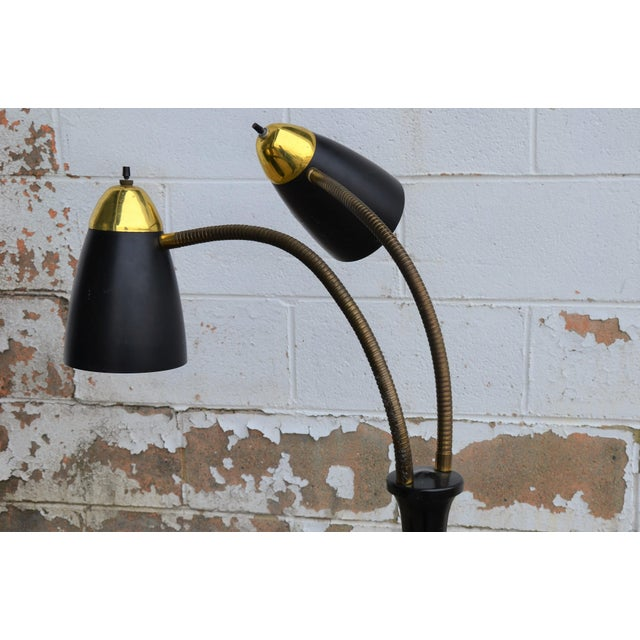 This Gerald Thurston style Mid-Century Modern goose-neck floor lamp was just acquired from a local estate. Original...