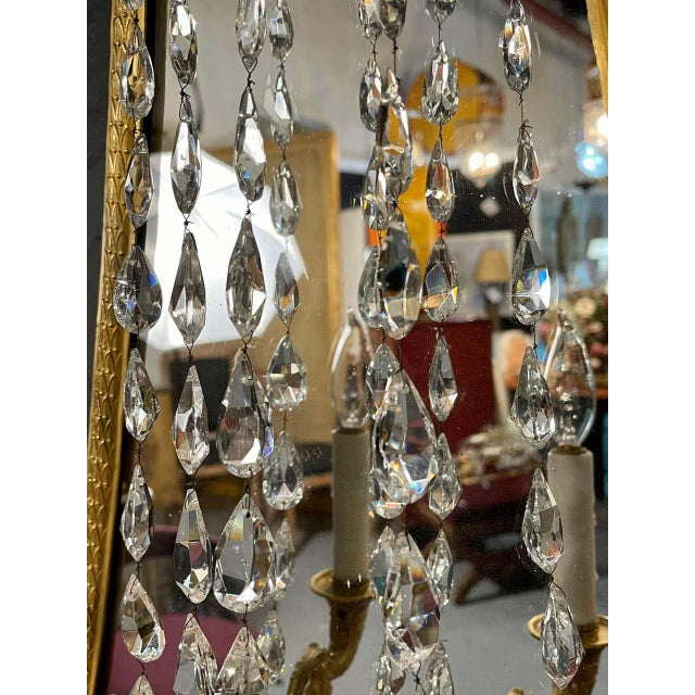 Glass Maison Baguès Mirrored Wall Lights, Sconces or Girandoles - a Pair For Sale - Image 7 of 13
