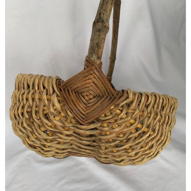 Late 20th Century Vintage Buttocks Gathering Basket For Sale - Image 5 of 13
