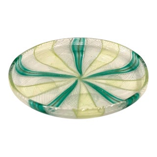 Vintage Murano Art Glass Dish For Sale