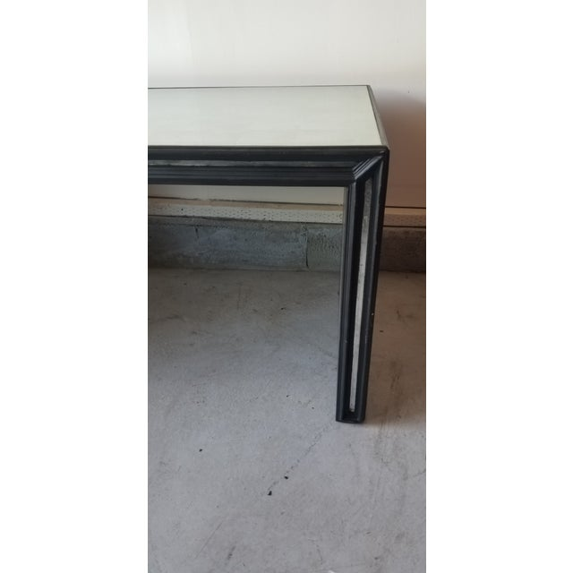 Contemporary Mirrored Waterfall Coffee Table For Sale In Los Angeles - Image 6 of 7