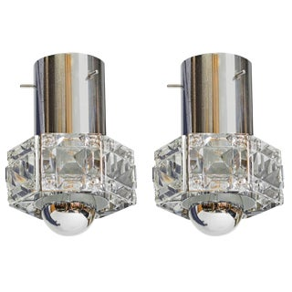 Kinkeldey Pair of Small Crystal Hanging Fixture, Germany For Sale