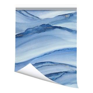 """Victoria Larson Running Tide Wallpaper - Pacific - 48x198"""" For Sale"""