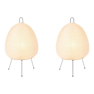 Akari Model 1a Light Sculptures by Isamu Noguchi - a Pair For Sale
