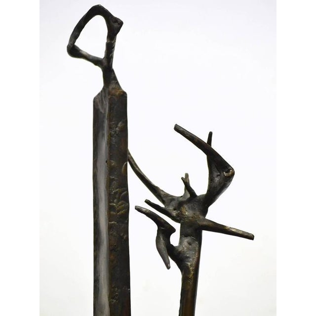 Abstract Bronze Sculpture by Clyde Ball For Sale - Image 9 of 11
