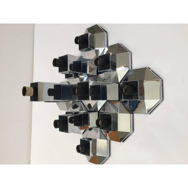 1970s Extra Large Modular Wall or Ceiling Lamp by Motoko Ishii for Staff For Sale In Los Angeles - Image 6 of 10