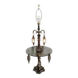 Antique Loevsky & Loevsky Gothic Spanish Moroccan Table Floor Lamp For Sale
