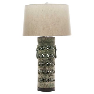 Lawrence & Scott Scimitar Verdigris Table Lamp For Sale