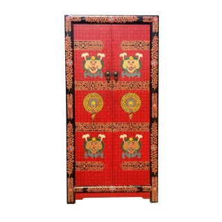 Hand Painted Tibetan Chest For Sale