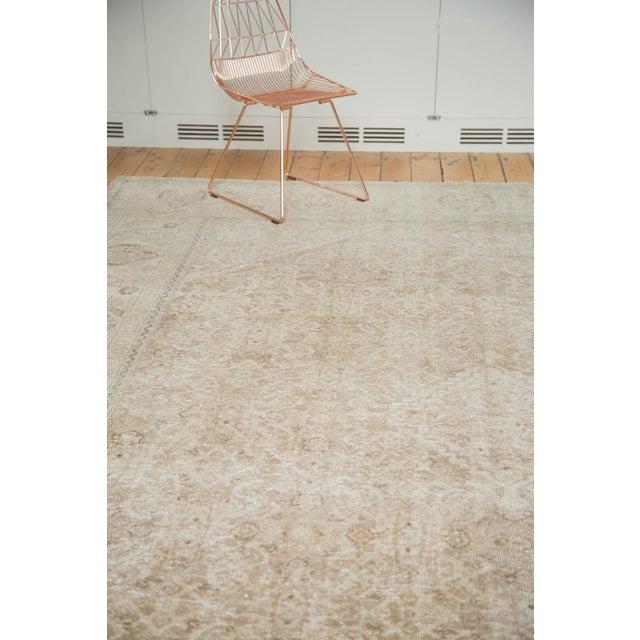 "Vintage Distressed Mahal Carpet - 10'3"" x 13'8"" For Sale - Image 9 of 10"