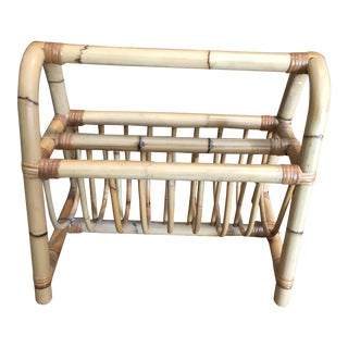 Natural Bamboo Magazine Rack For Sale