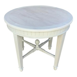 Country French Shabby Chic Foyer Table For Sale