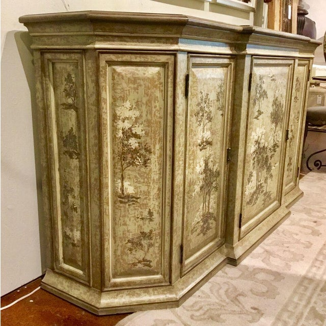 Drexel Heritage Drexel Heritage Chinoiserie Sage Flanders Console Table/Sideboard For Sale - Image 4 of 8