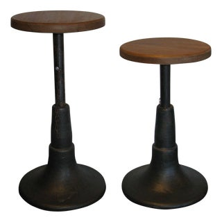 Industrial Stools - A Pair