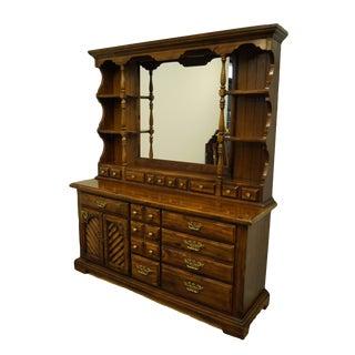 "Thomasville Furniture Pine Manor Collection 66"" Door Dresser W. Mirrored Hutch 8311-140/245 For Sale"