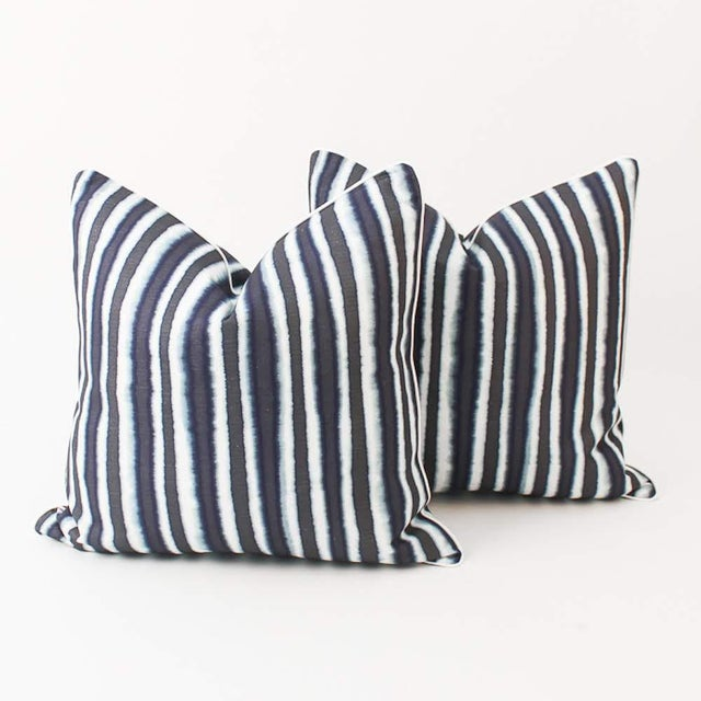 Blue Blue Baxter Ombre Pillows, a Pair For Sale - Image 8 of 8