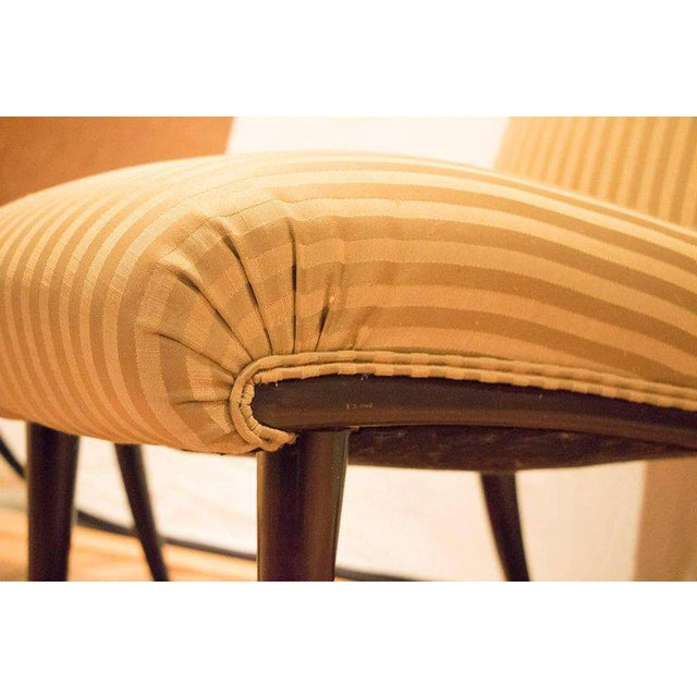 Viennese Biedermeier Style Art Deco Flare Slipper Chairs - a Pair - Image 4 of 10