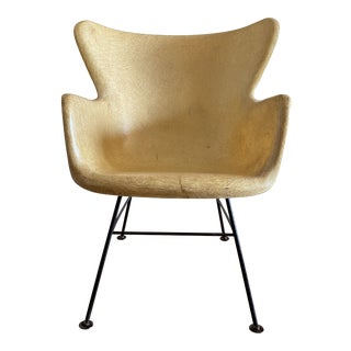 1950s Lawrence Peabody for Selig Wingback Fiberglass Chair For Sale