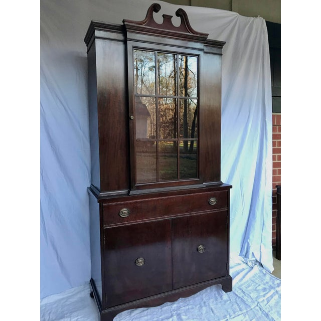 American Antique Mahogany China Cabinet For Sale - Image 3 of 12