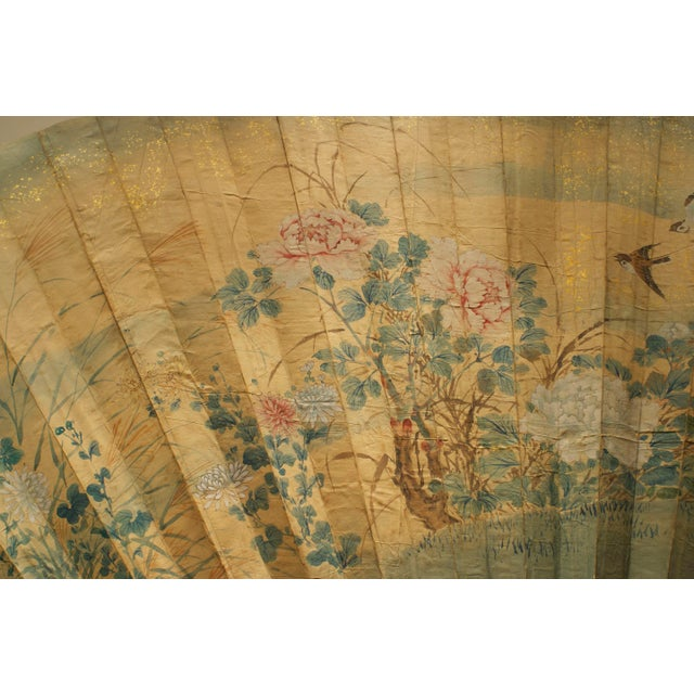 Asian Japanese Monumental Exhibition Quality Folding Fan For Sale In New York - Image 6 of 11