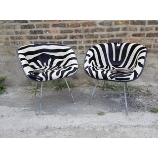 Hollywood Regency Early Eames for Herman Miller Hide La Fonda Chairs Newly Upholstered - Pair Preview