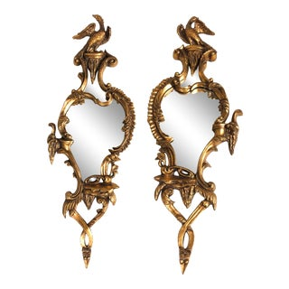 Pair of Large Italian Chinese Chippendale Style Sconces For Sale