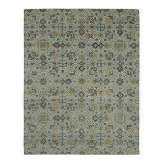 Traditional Hand Tufted Geometric Wool & Cotton Rug - 8' X 10'