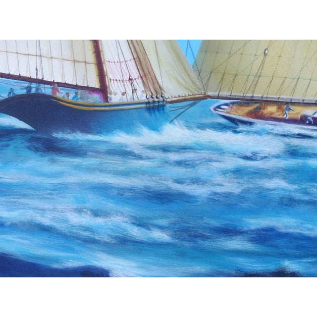 """""""New Bounty"""" Contemporary Nautical Painting by Argentine Artist Gabriel Duarte For Sale In Miami - Image 6 of 11"""