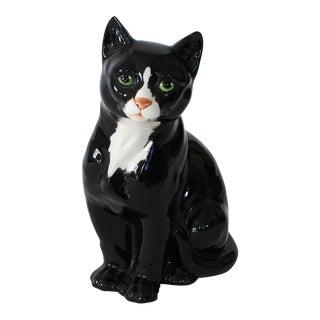 Decorative Italian Ceramic Cat For Sale