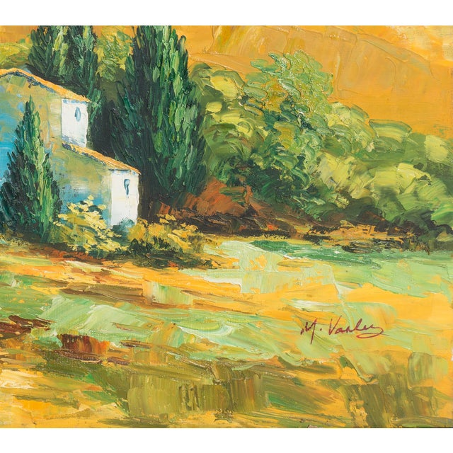 M. Vanly Tuscan Summer Landscape Oil Painting - Image 4 of 6