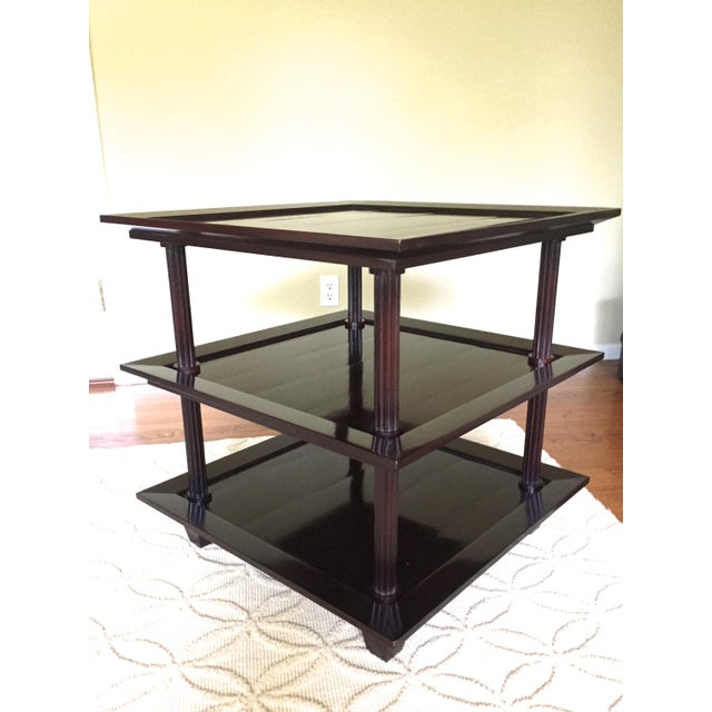 Contemporary Barbara Barry for Baker Three Tiered Side Table For Sale - Image 3 of 4