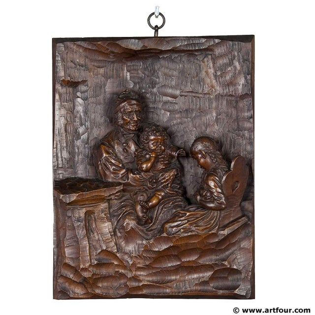 Late 19th Century Relief Woodcarving By Hermann Steiner Meran 19th Century For Sale - Image 5 of 5