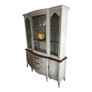 3 Piece Vintage French Country Cabinet and Buffet For Sale