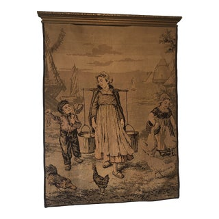 1930s French Tapestry Wall Hanging For Sale