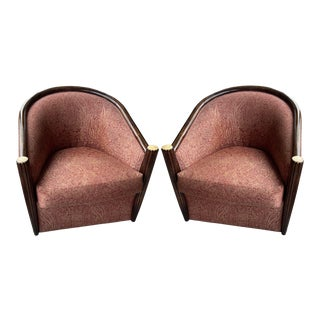J. Robert Scott Iconic Art Deco Club Chairs - a Pair For Sale