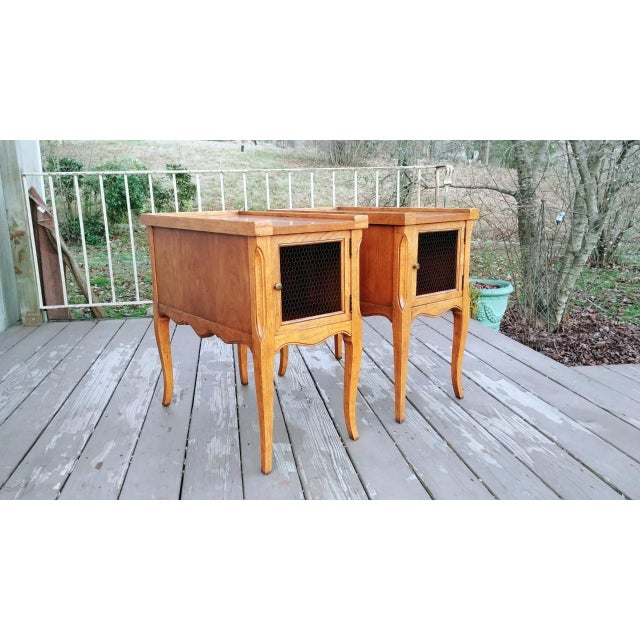 French 1980s French Walnut End Tables - a Pair For Sale - Image 3 of 13
