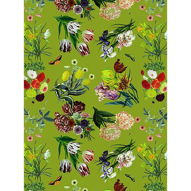Transitional Scalamandre Nicolette Mayer for Scalamandre Flora & Fauna, Fontana Wallpaper For Sale - Image 3 of 3