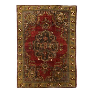 "20th Century Turkish Oushak Rug - 6'5"" X 8'11"" For Sale"