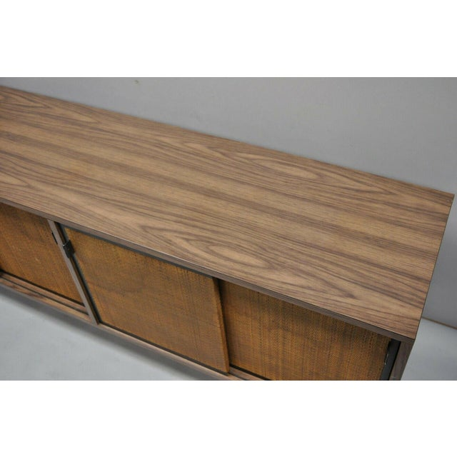 1970s Mid Century Modern Laminate Formica Case Credenza For Sale In Philadelphia - Image 6 of 13