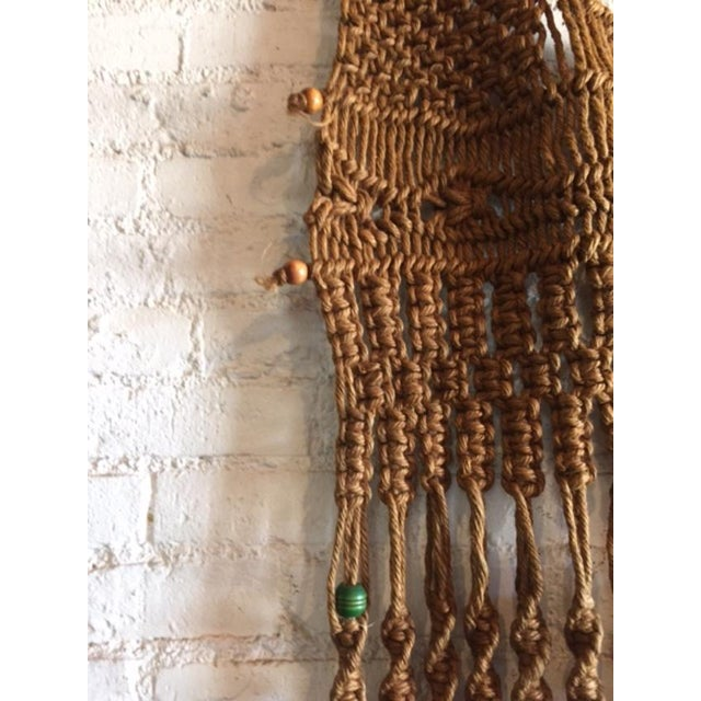 Vintage Large Weave Woven Art Wall Hanging - Image 8 of 8